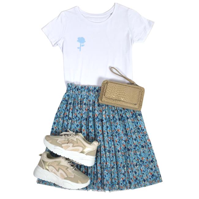 FestyFashion Shirt Hoodie Zwart/Wit  'Roosje (mini)' - Supersale