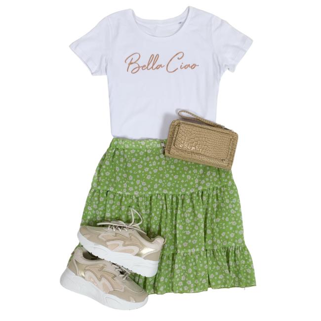 FestyFashion Shirt Zwart/Wit  'Bella Ciao' - Supersale