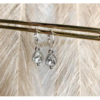 FestyFashion Oorringen Zilver Jewel Crystal