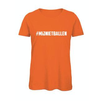 Shirt Hoodie '#Mij niet ballen'
