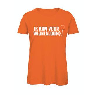 Shirt Hoodie 'Ik kom voor Wijn(aldum)'