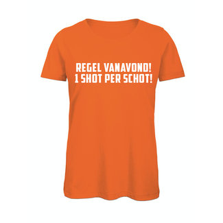 Shirt Hoodie 'Regel vanavond 1 shot per schot'