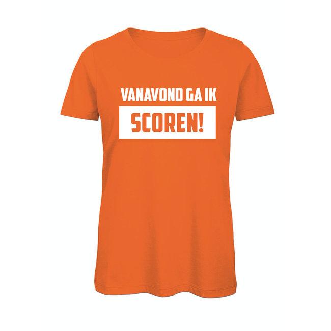 Shirt Hoodie 'Vanavond ga ik scoren'