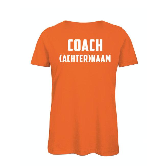Shirt Hoodie ' Coach (achter)naam