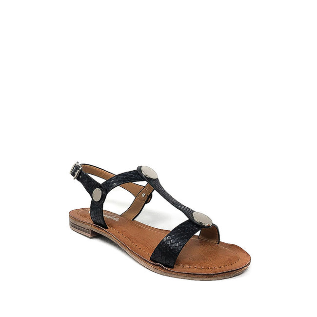 FestyFashion Sandaaltje Croco Zwart Maat 36,37,38,39- Supersale