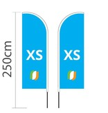 Beachflag Straight XS - 60x186cm