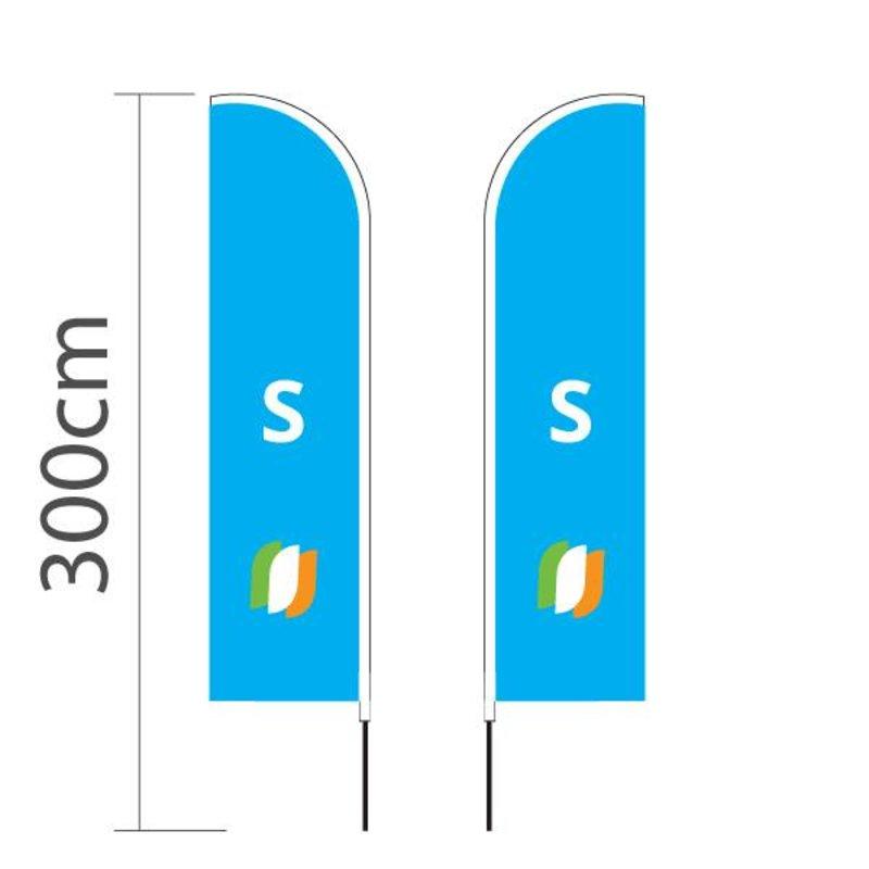 """Beach flag Straight S - 60x240cm (24"""" x 94"""")"""