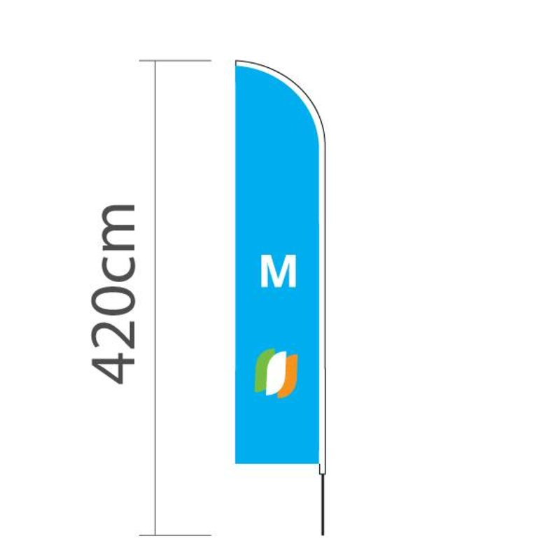 "Beach flag Straight M - 70x330cm (28"" x 130"")"