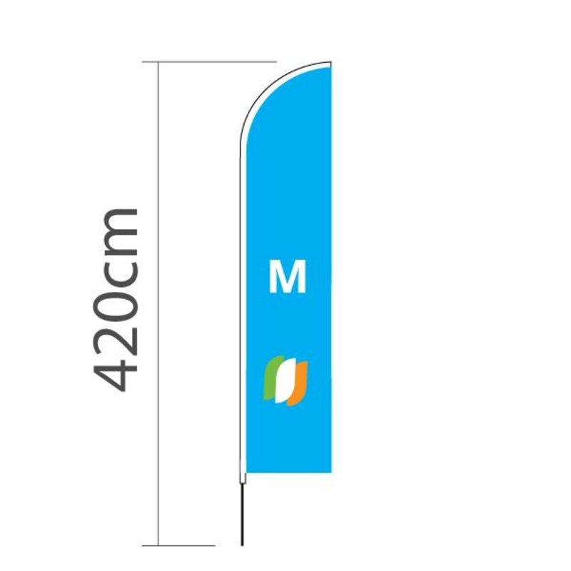 Beach flag Straight M - 70x330cm
