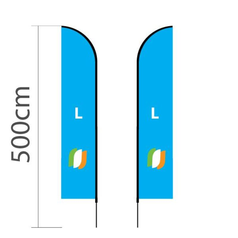 Beachflag Straight L - 75x380cm