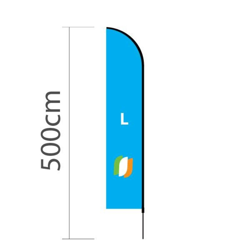 "Beach flag Straight L - 75x380cm (30"" x 150"")"