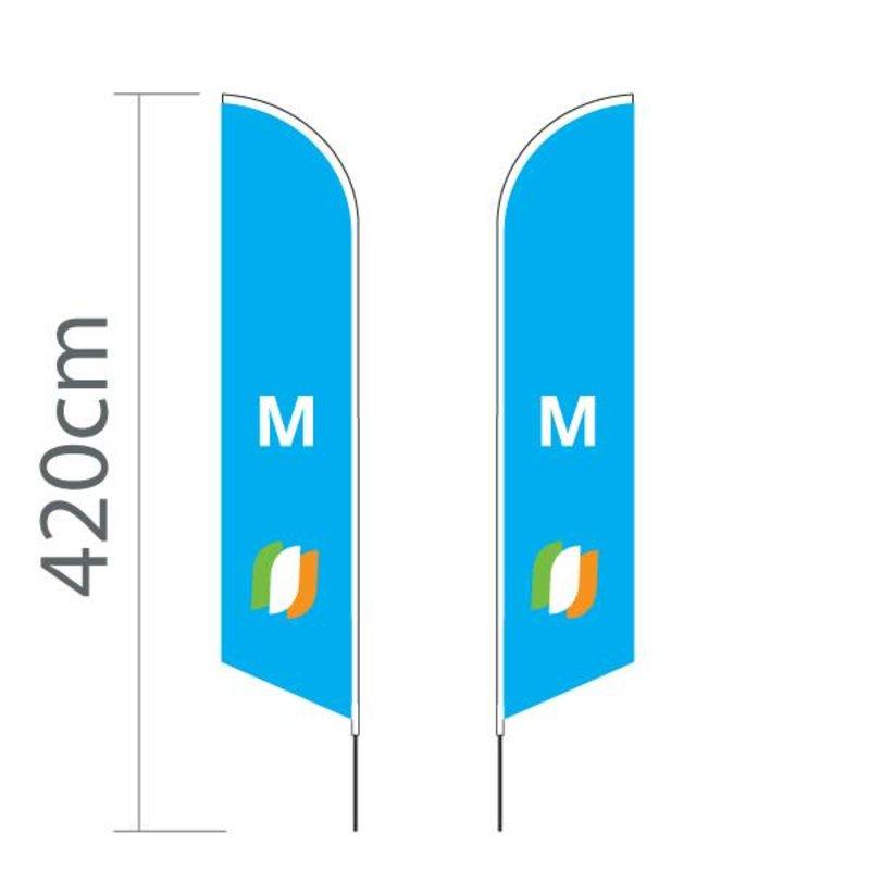 Beach flag Angled M - 70x330cm