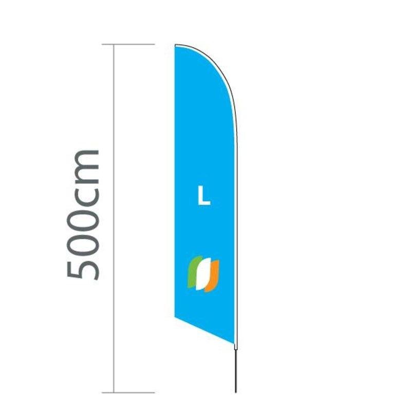 Beach flag Angled L - 75x380cm