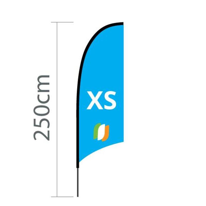 """Beach flag Concave XS - 60x186cm (24"""" x 73"""")"""