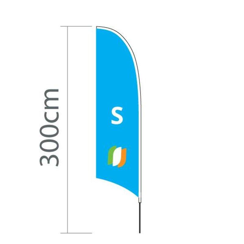 """Beach flag Concave S - 60x240cm (24"""" x 94"""")"""