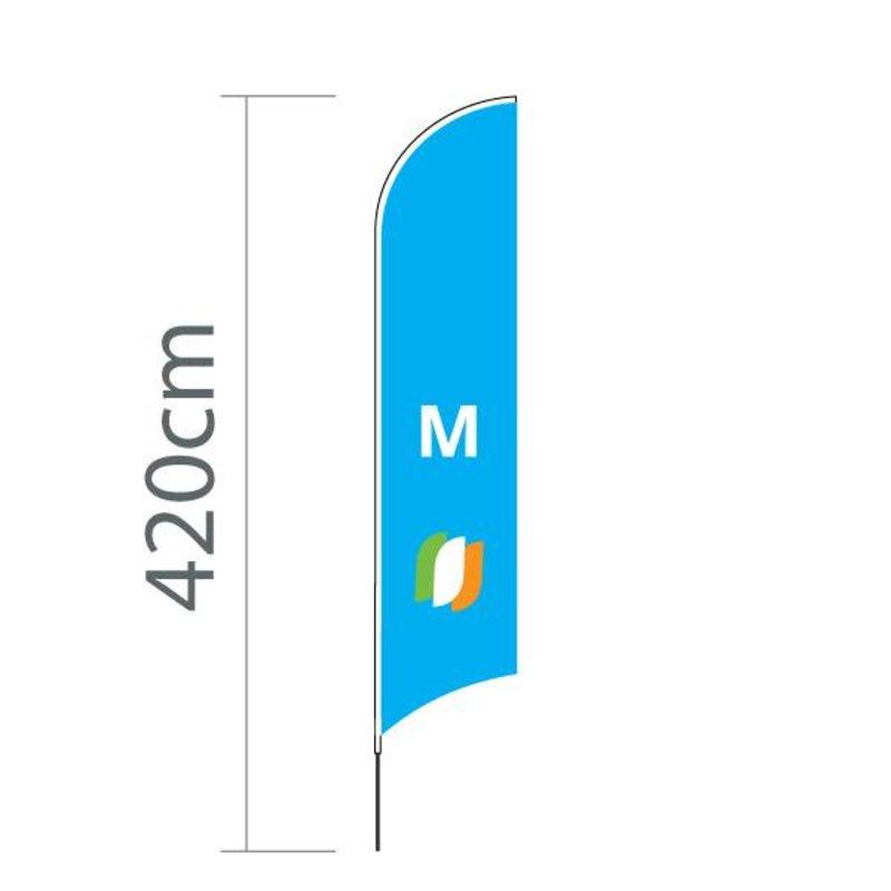 Beach flag Concave M - 70x330cm
