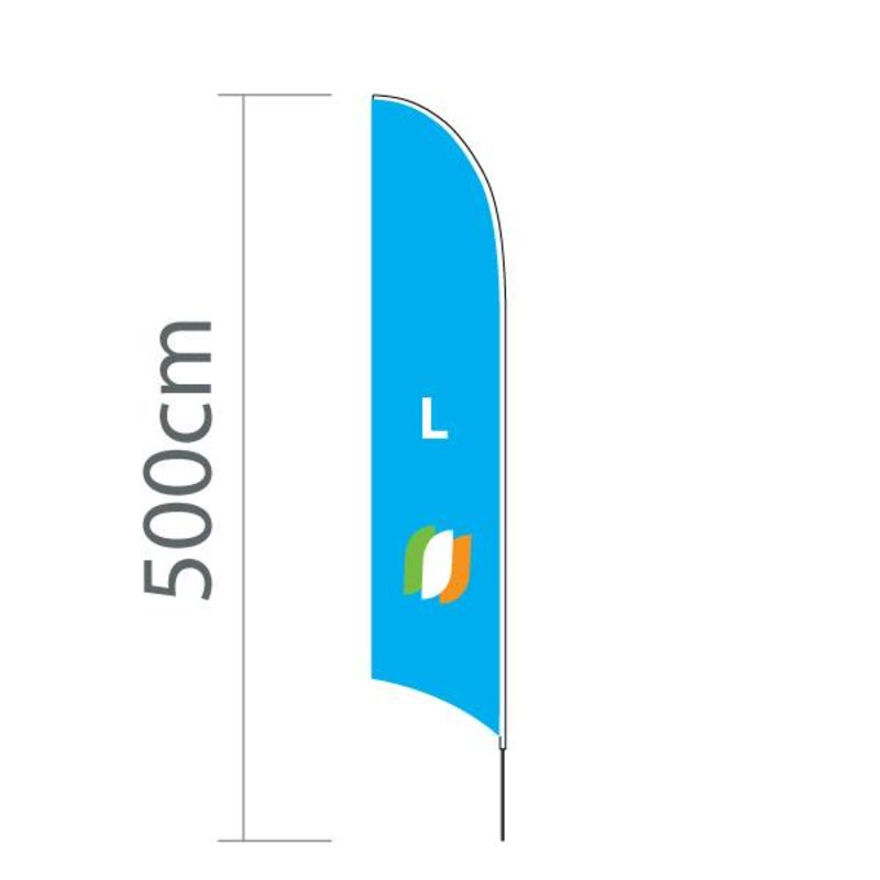 Beach flag Concave L - 75x380cm