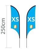 """Beach flag Shark XS - 68x200cm (27"""" x 79"""")"""