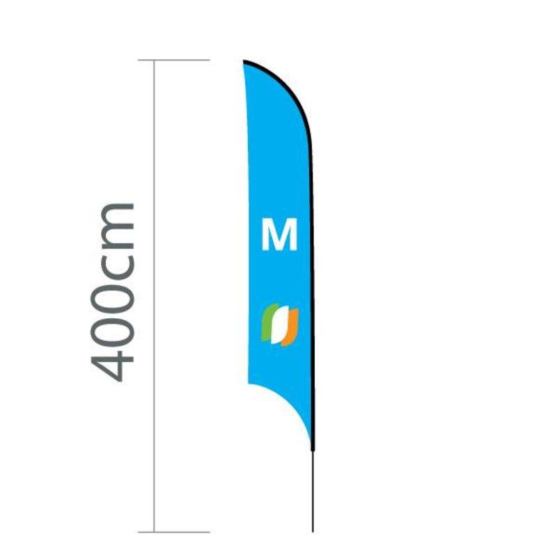 """Beach flag Shark M - 68x350cm (27"""" x 138"""")"""