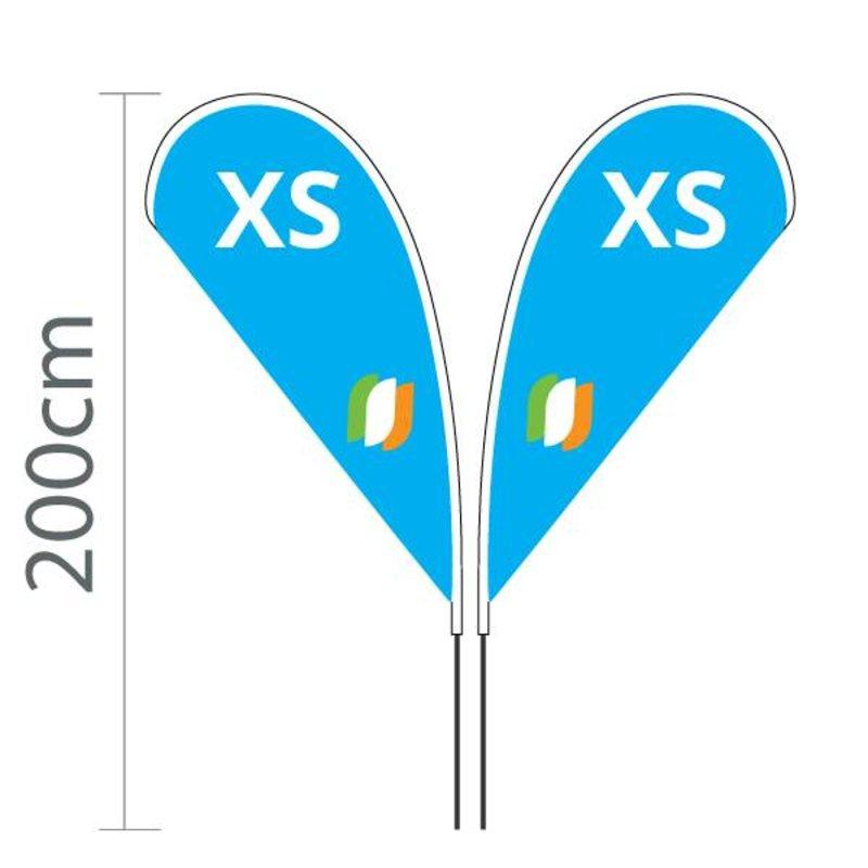 "Beach flag Flying XS - 80x143cm (31"" x 56"")"