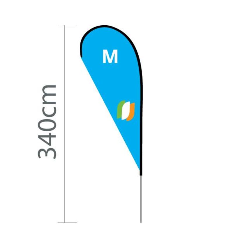 Beach flag Flying M - 100x240cm