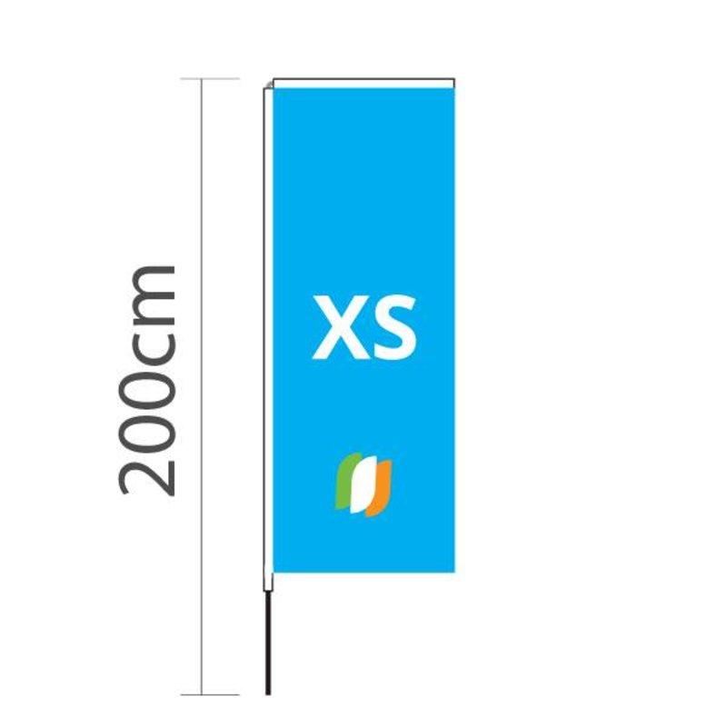 "Beach flag Block XS - 60x160cm (24"" x 63"")"