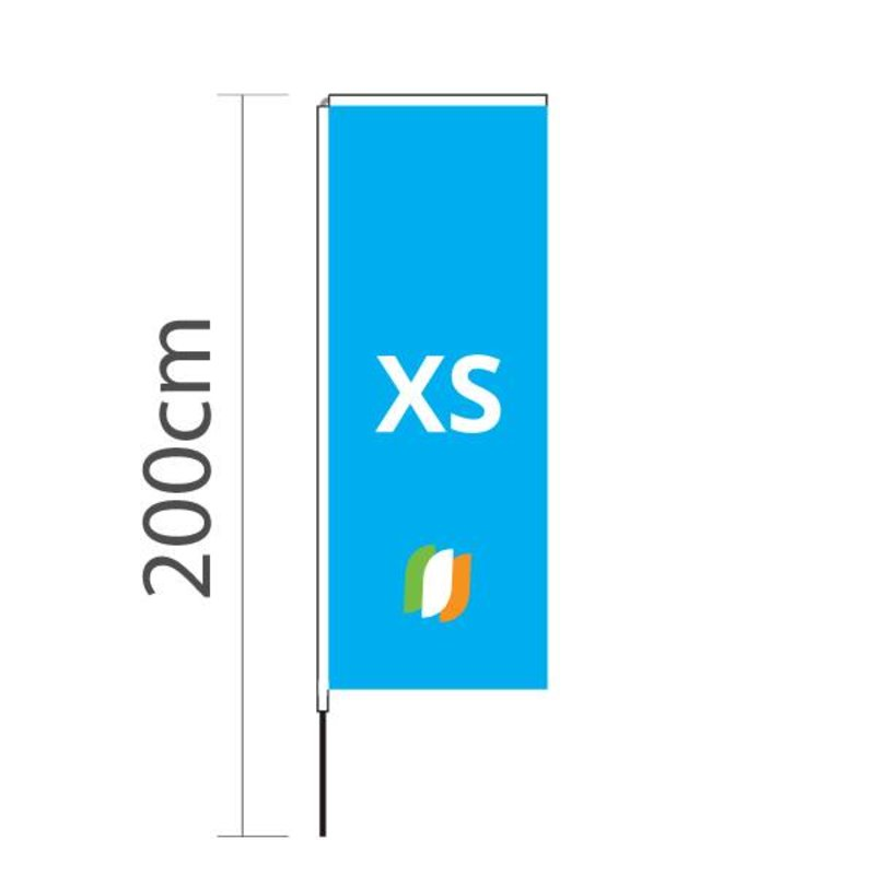 Beach flag Block XS - 60x160cm