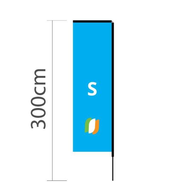 """Beach flag Block S - 72x240cm (28"""" x 94"""")"""