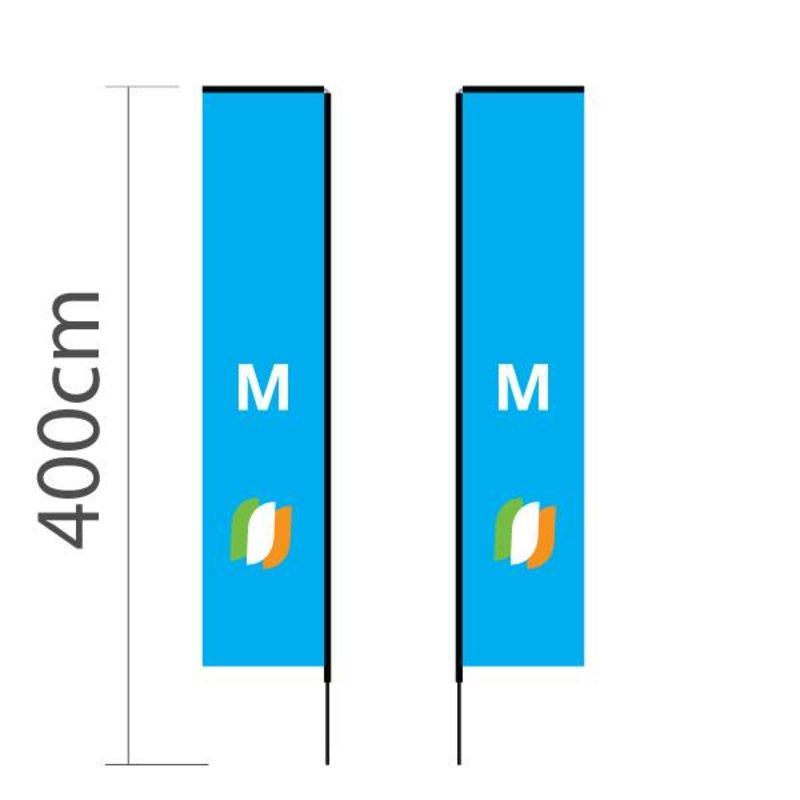 Beachflag Block M - 72x340cm