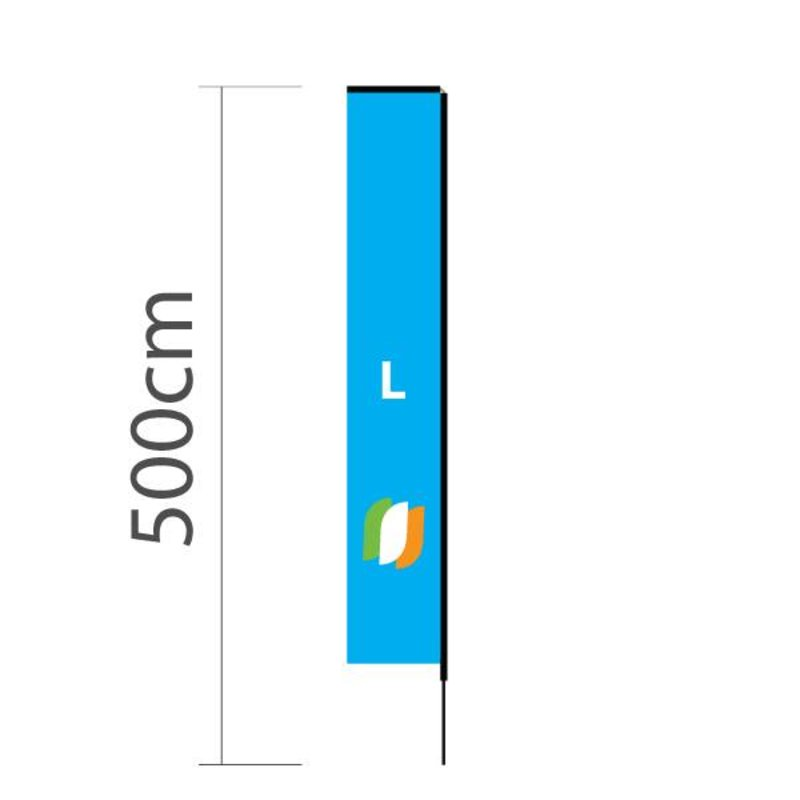 "Beach flag Block L - 72x440cm (28"" x 173"")"
