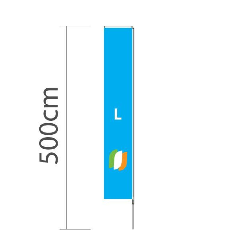 Beach flag Block L - 72x440cm