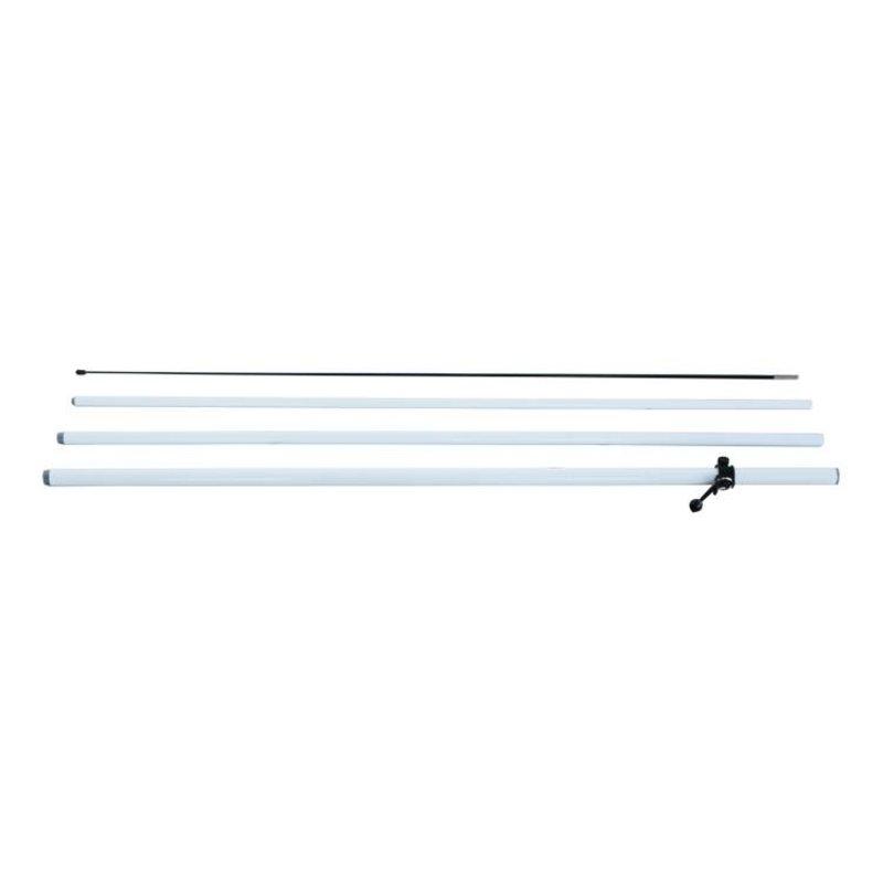 Beach flag pole M, double sided, white