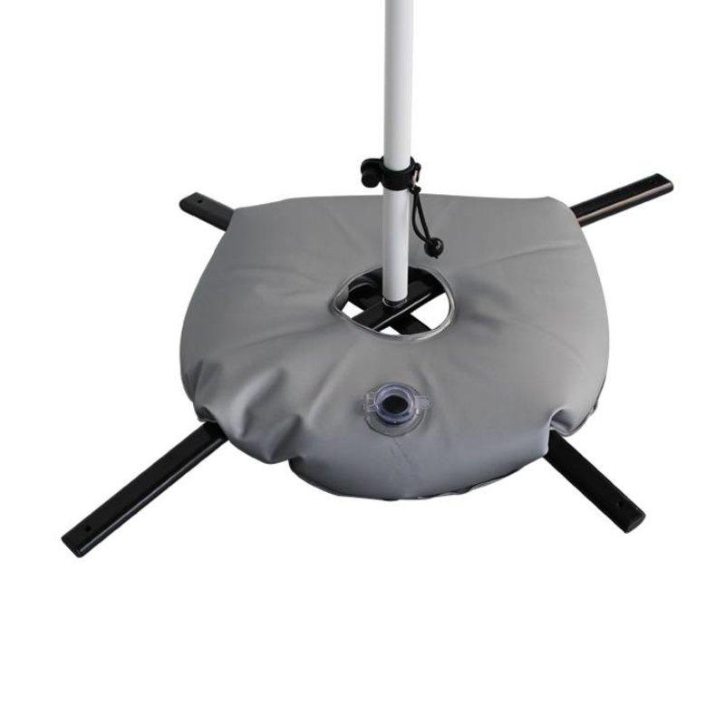 Base cruceta negro con bolsa de agua gris