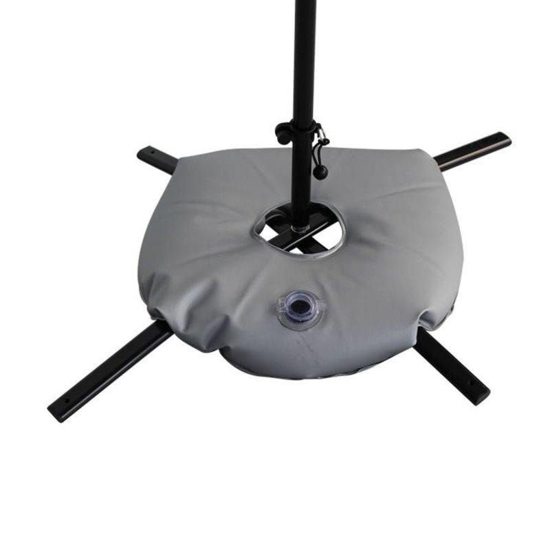 Kryssfot svart med vattenväska grå