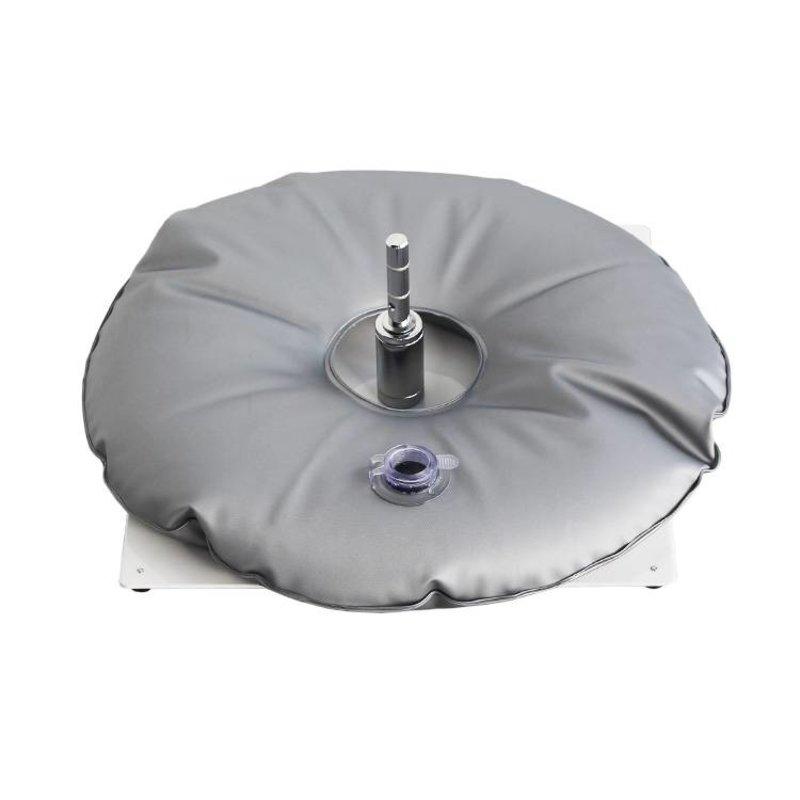 Placa de base, branco saco de água cinza