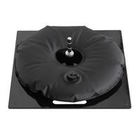 Bodenplatte, heavy, schwarz mit Wassersack schwarz