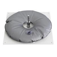 Ground plate, heavy, white with grey water bag