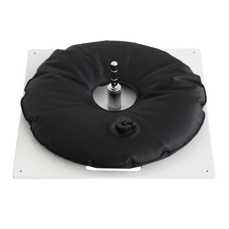 Piastra di massa, heavy, bianca con sacca d'acqua nera