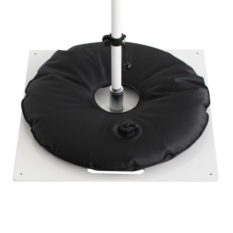 Ground plate, heavy, white with black water bag
