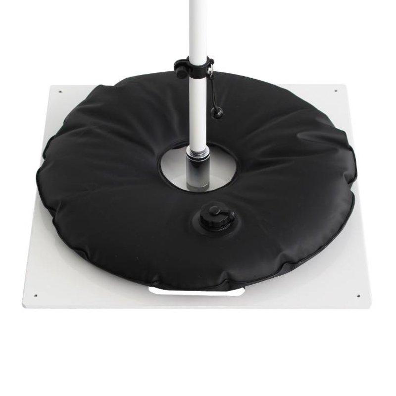 Markplatta, heavy, vit med vattenväska svart