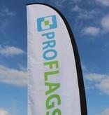 Beachflag Straight M - Ekstra bred - 90x300cm