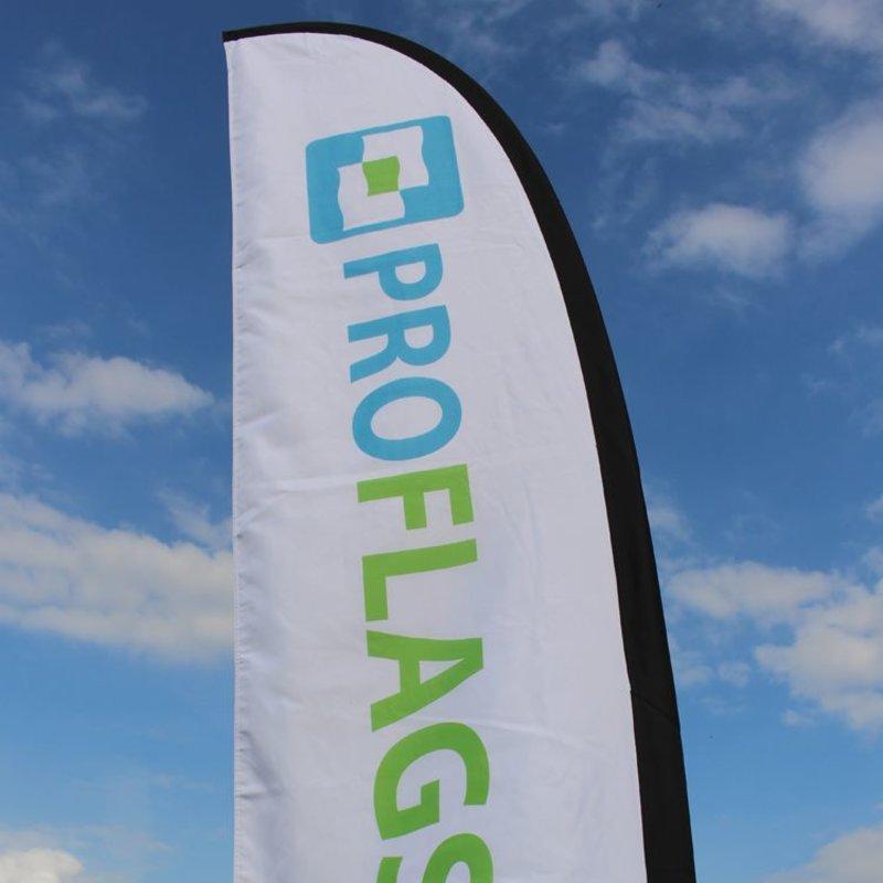 Beachflag Straight M - Extra bred - 90x300cm