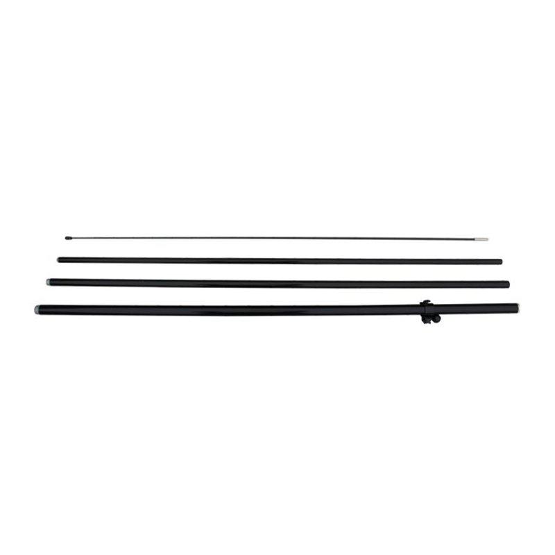 Asta M per il beach flag, fronte-retro, nero
