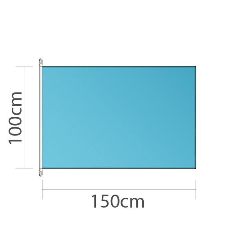Flag, 100x150 cm, trykt i fuld farve