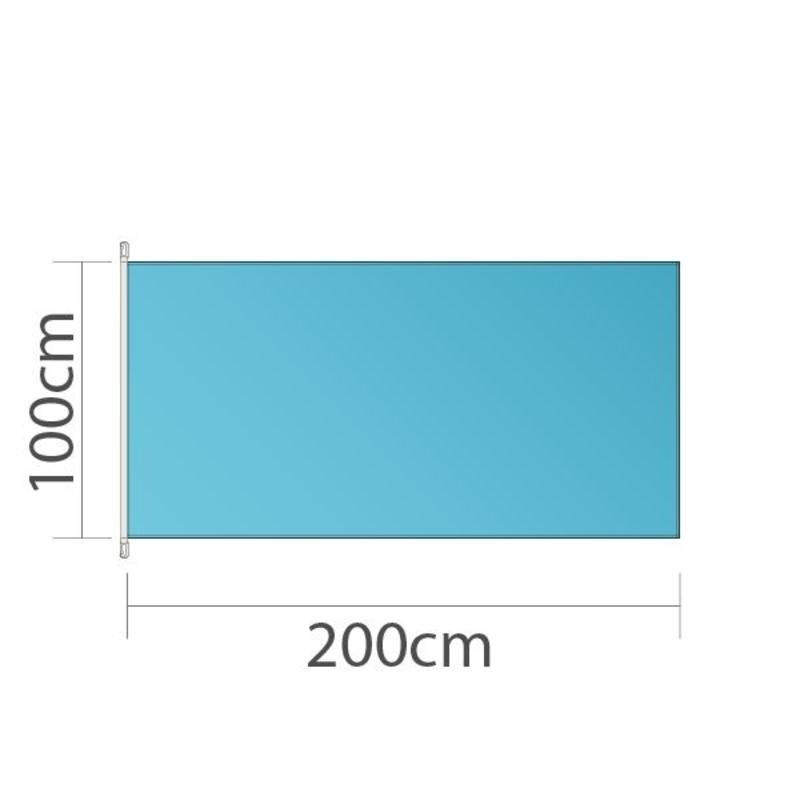 Drapeau, 100x200cm, imprimé en couleur