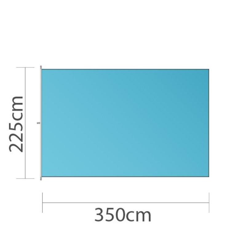 Bandeira, 225x350cm, impressão a cores