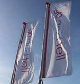 Banner flags, full-colour printed banner flag custom made.