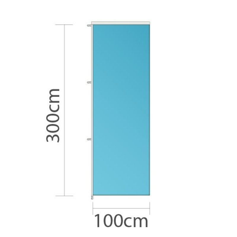 Bandera vertical publicitaria, 100x300cm