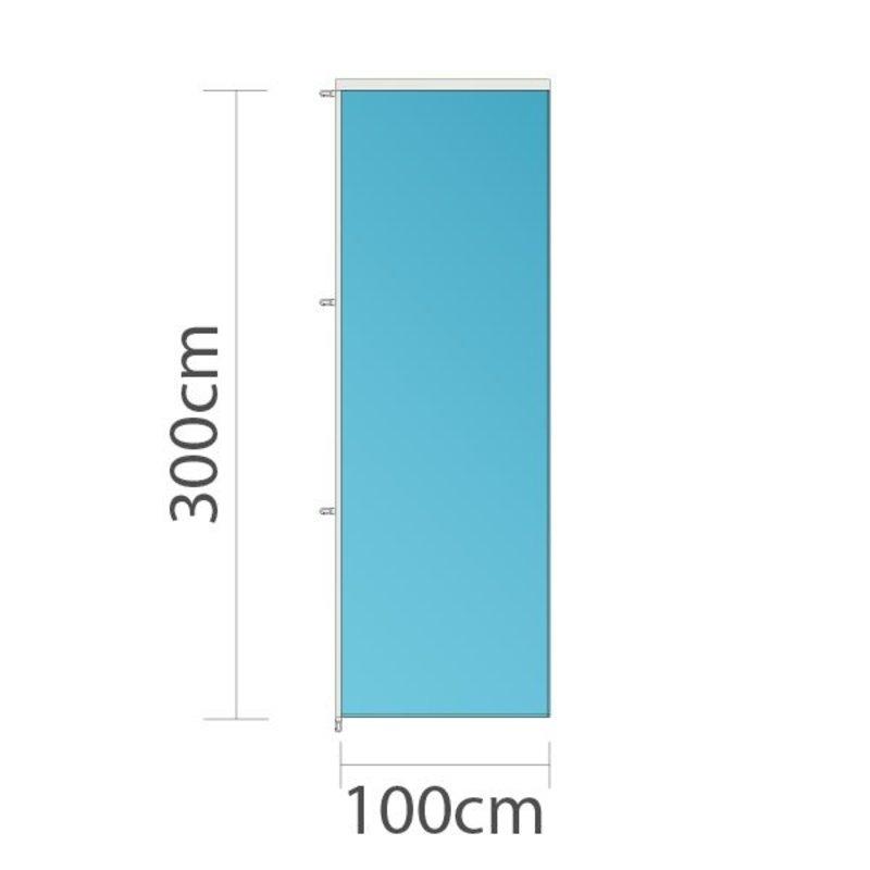 Drapeau sur mesure, 100x300cm