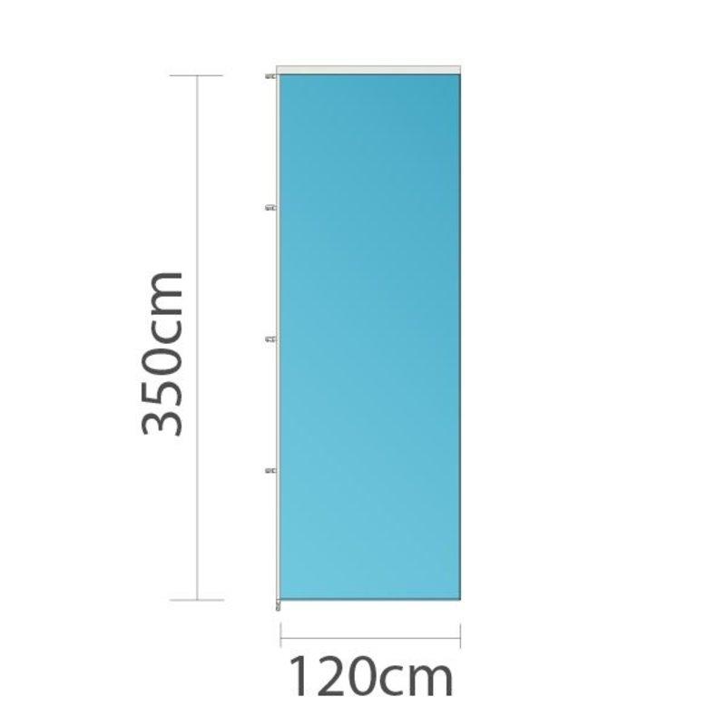 Drapeau sur mesure, 120x350cm